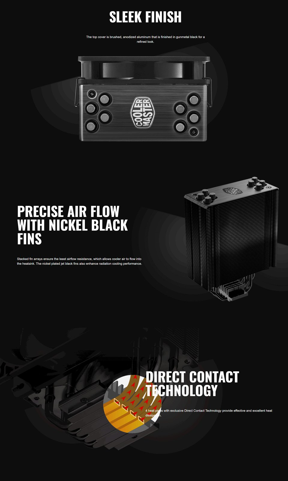 Cooler Master Hyper 212 Black Edition CPU Cooler features