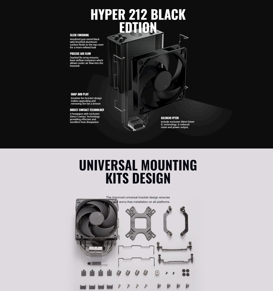 Cooler Master Hyper 212 Black Edition CPU Cooler features 3