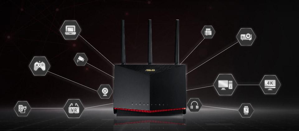ASUS RT-AX86U AX5700 WiFi 6 Dual-Band Gaming Router Wireless Mesh AX5700 |  eBay