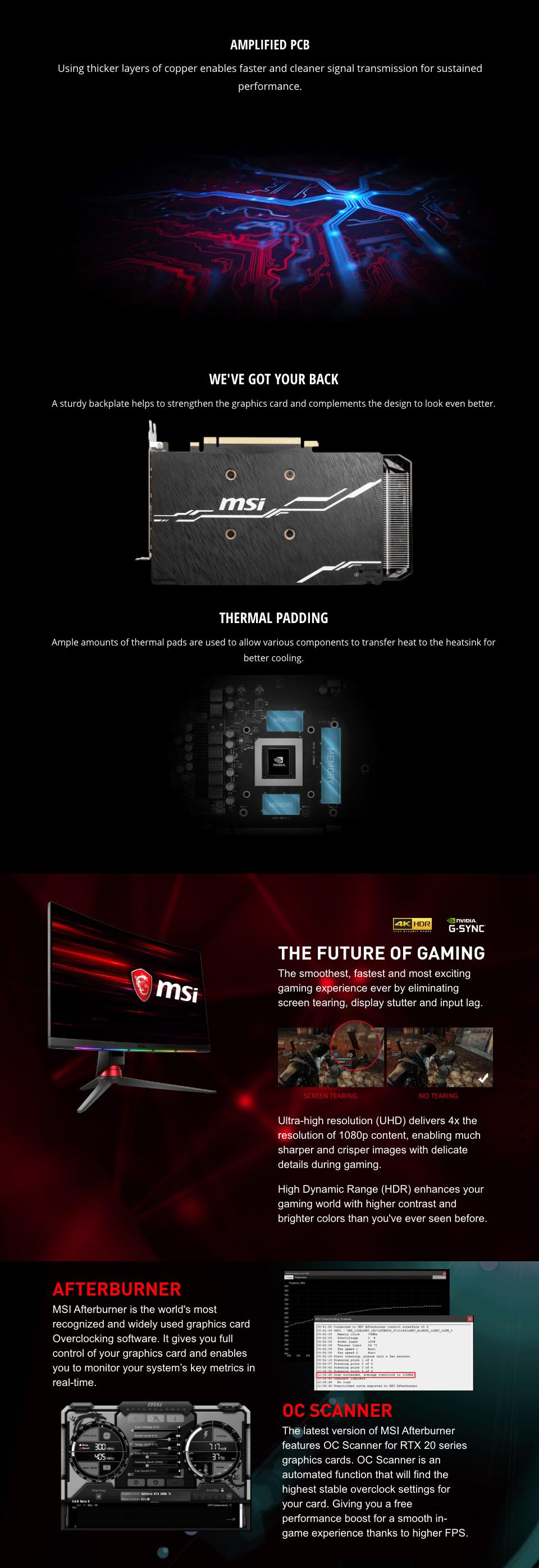 MSI GeForce RTX 2060 Super Ventus GP OC 8GB features 2