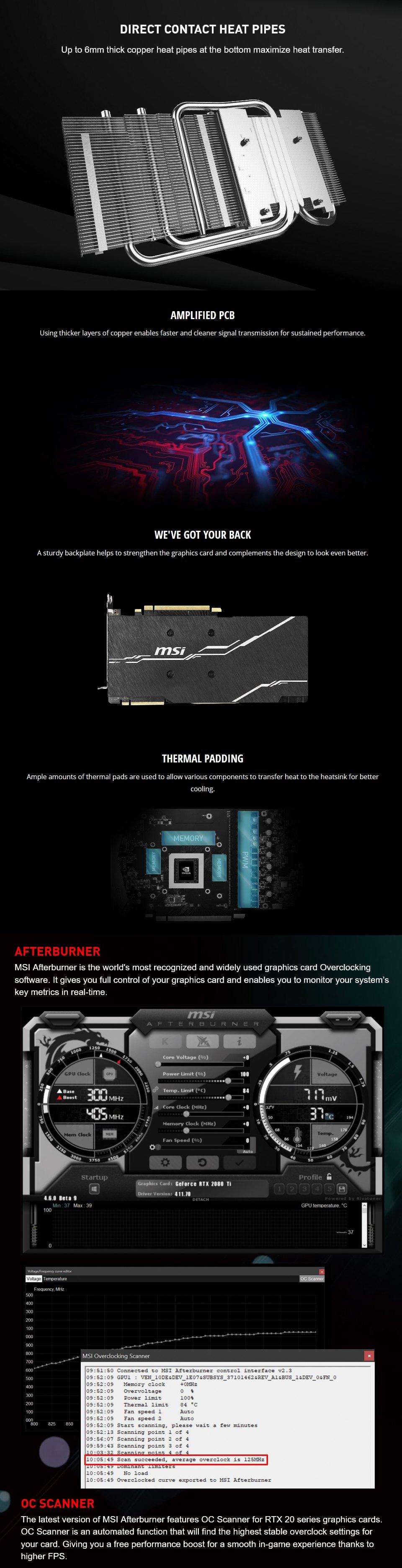 MSI GeForce RTX 2070 Super Ventus GP OC 8GB features 2