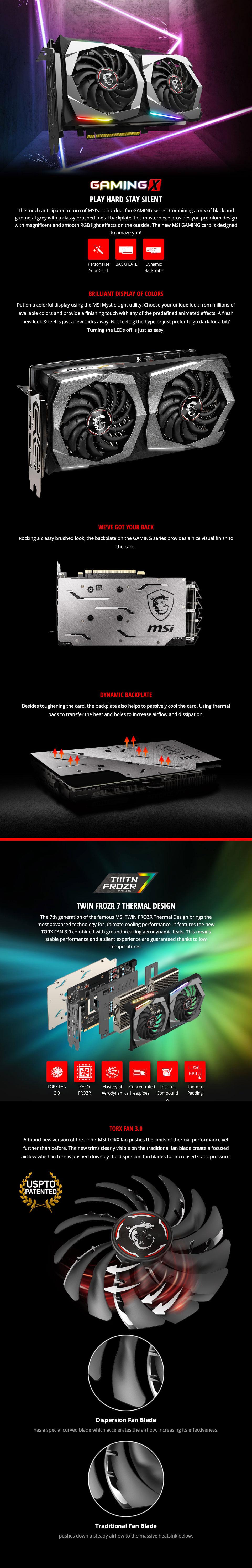 MSI GeForce RTX 2060 Super Gaming X 8GB