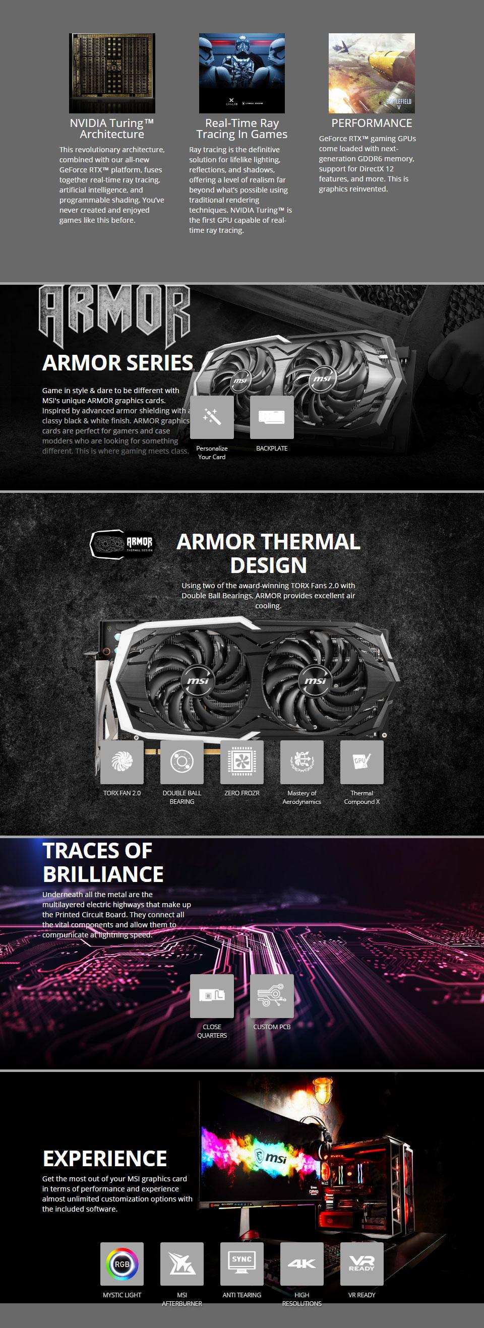 MSI GeForce RTX 2070 Armor OC 8GB [RTX2070-ARMOR-8G-OC] : PC