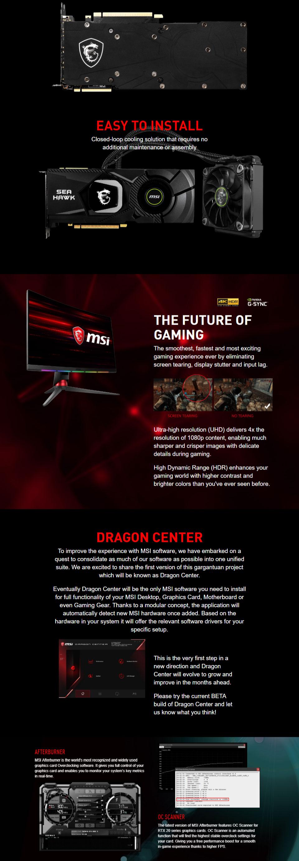MSI GeForce RTX 2080 Ti Sea Hawk X 11GB [RTX2080TI-SEAHAWK-X
