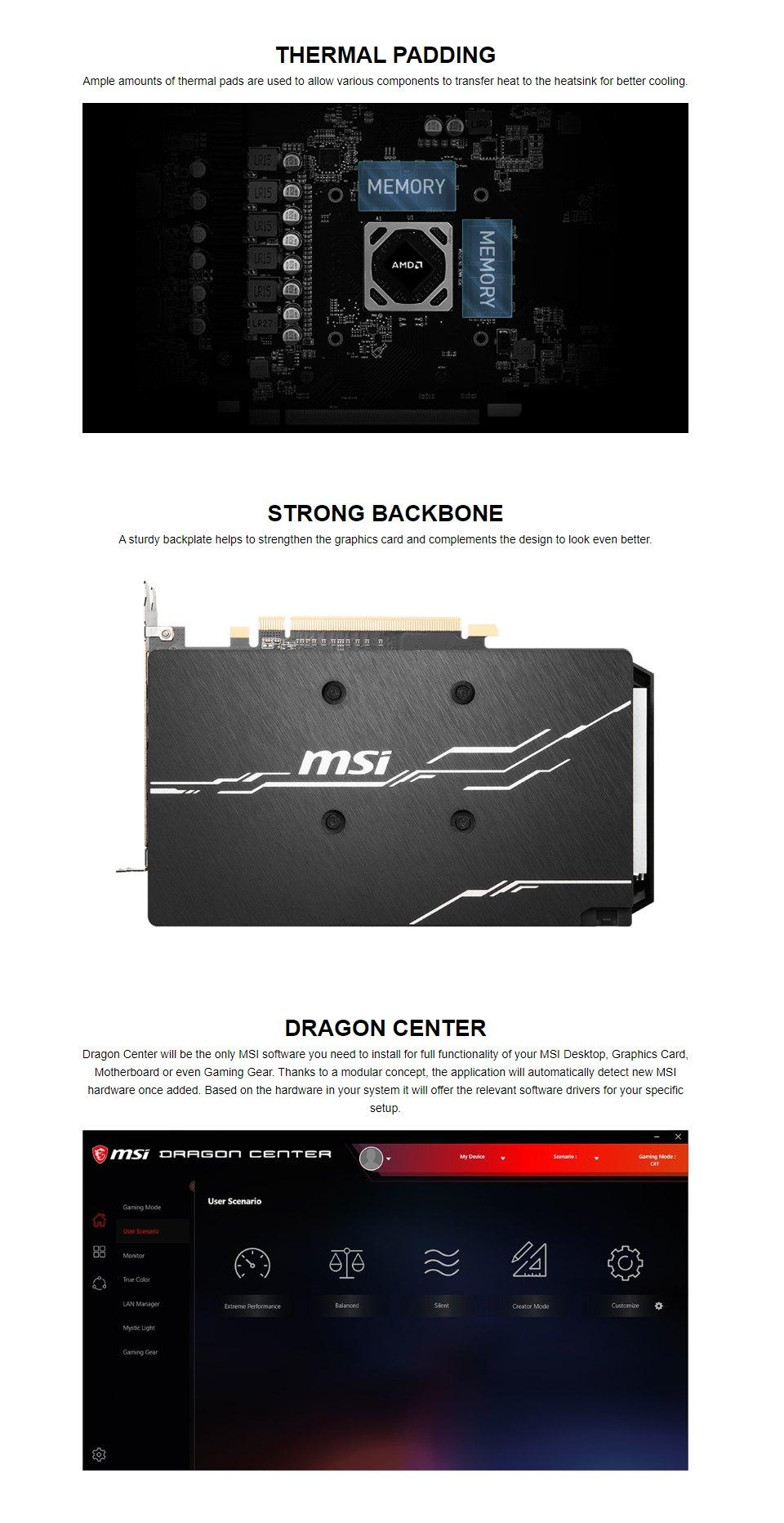 MSI Radeon RX 5500 XT Mech OC 8GB features 3