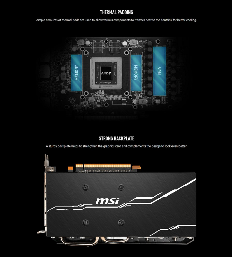 MSI Radeon RX 5600 XT Mech OC 8GB features 2