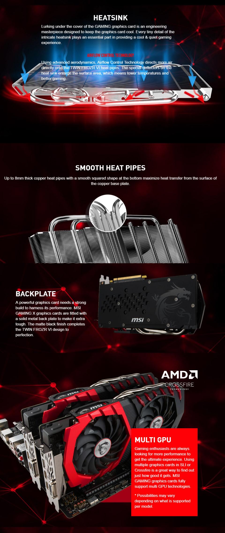 Msi Radeon Rx 580 Gaming X 8gb Rx580 Gaming X 8g Pc