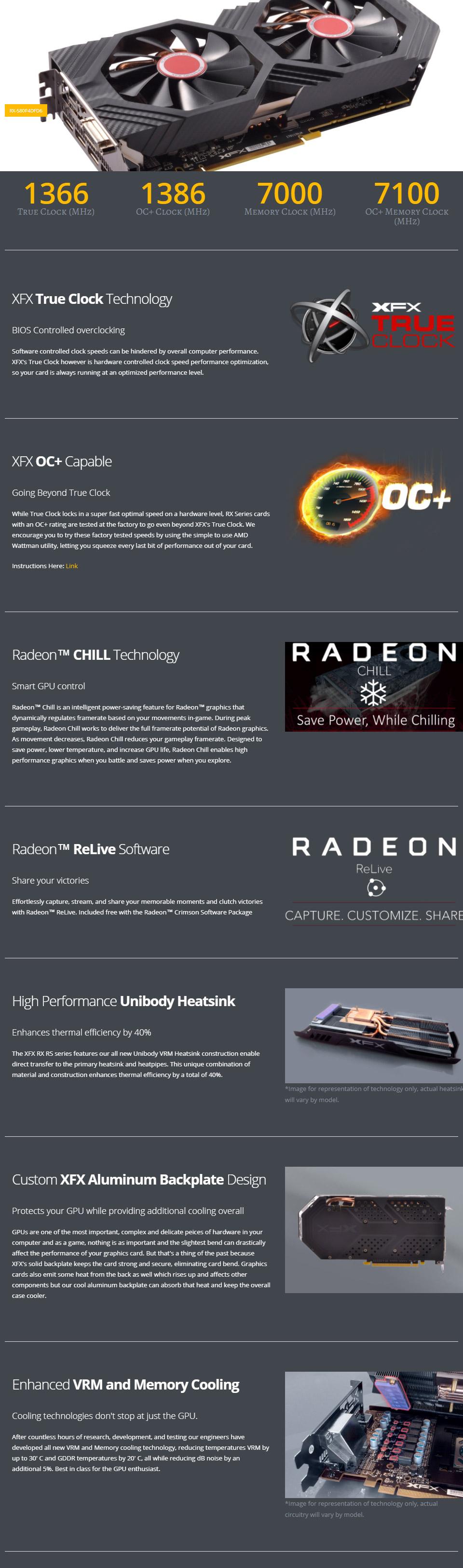 XFX Radeon RX 580 GTS XXX Edition 4GB [RX-580P4DFD6] : PC