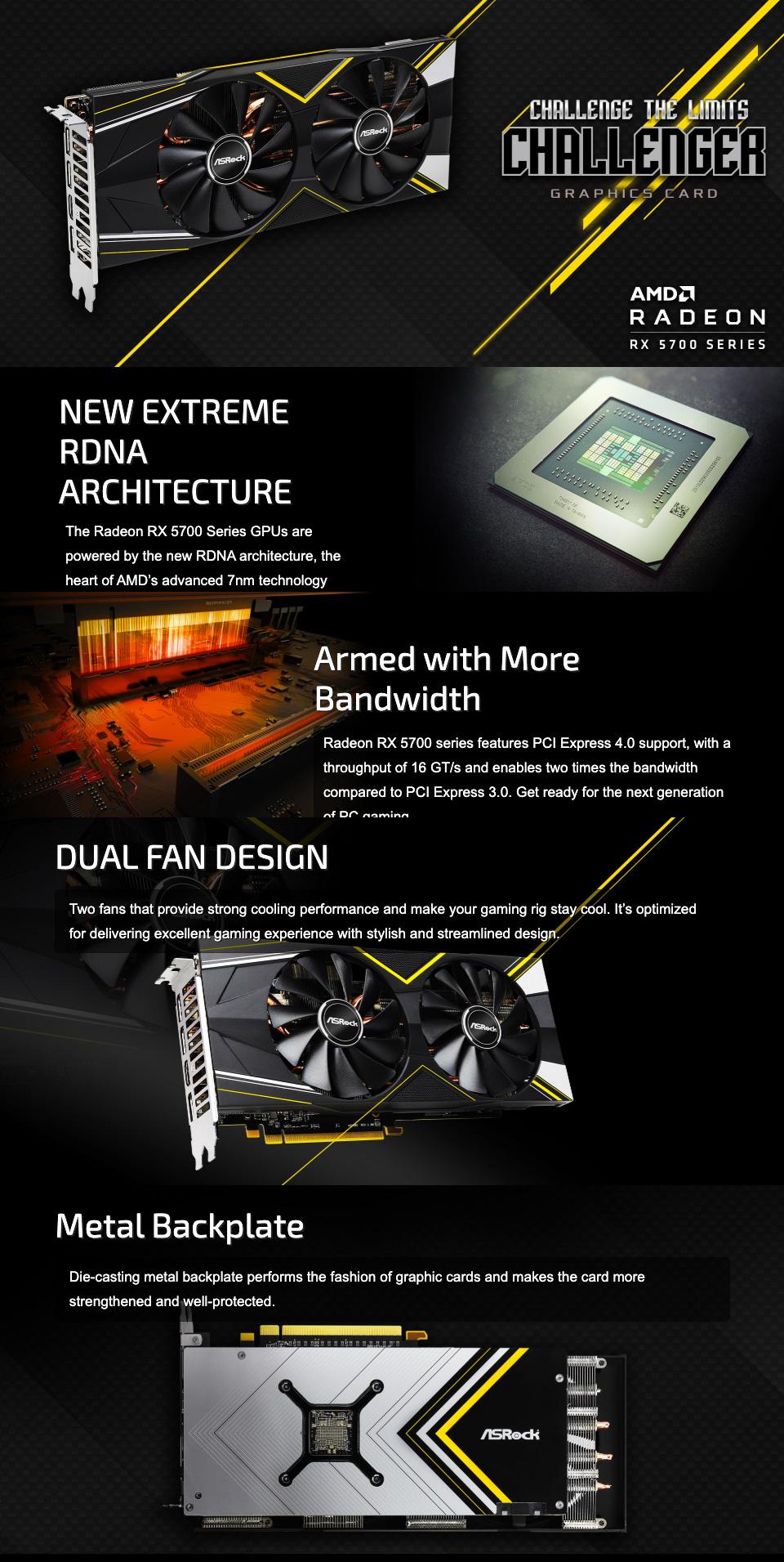 ASRock Challenger D Radeon RX 5700 XT 8GB features