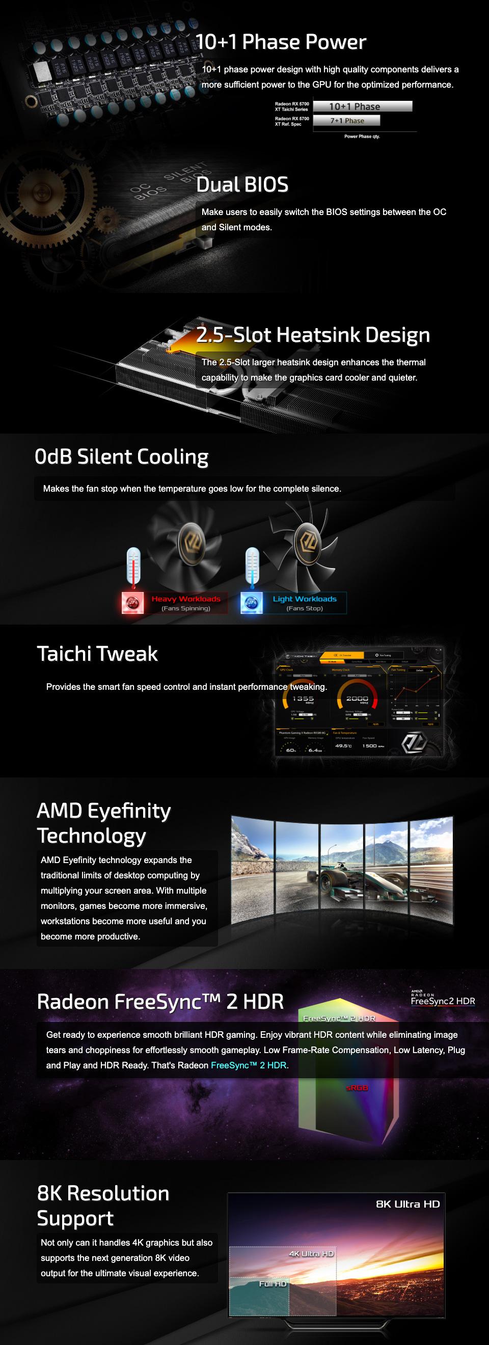 ASRock Taichi Radeon RX 5700 XT 8GB features