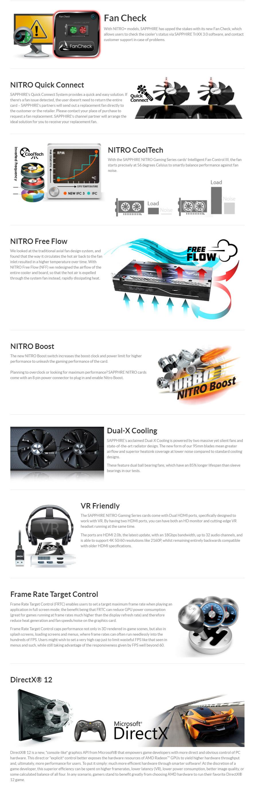 Sapphire Radeon RX 580 Nitro+ OC 8GB [RX5808G01NITRO] : PC
