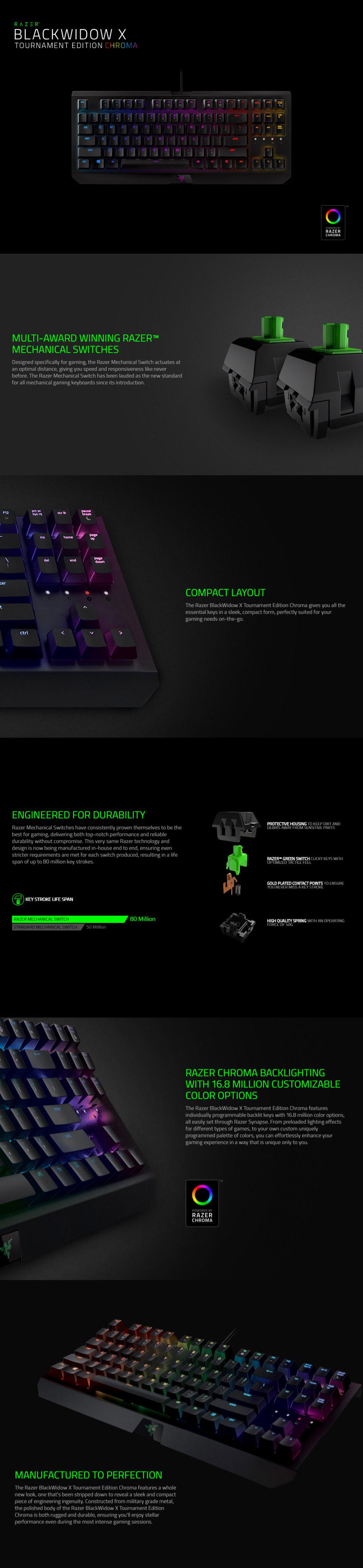 Razer Blackwidow X Tournament Chroma Rgb Mechanical Keyboard Rz03 Te An Error Occurred