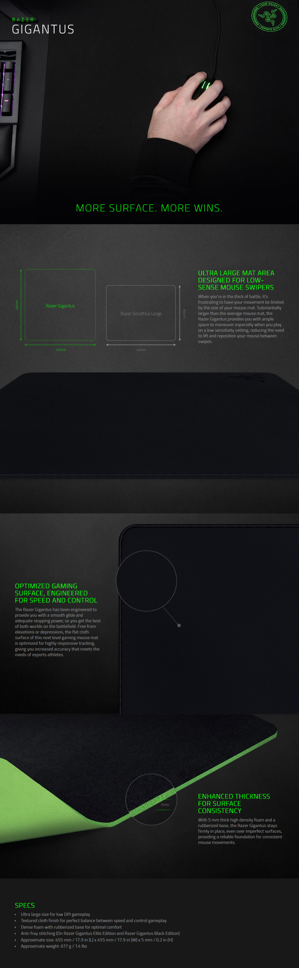 Razer Gigantus Ultra Large Gaming Mouse Mat [RZ02-01830200