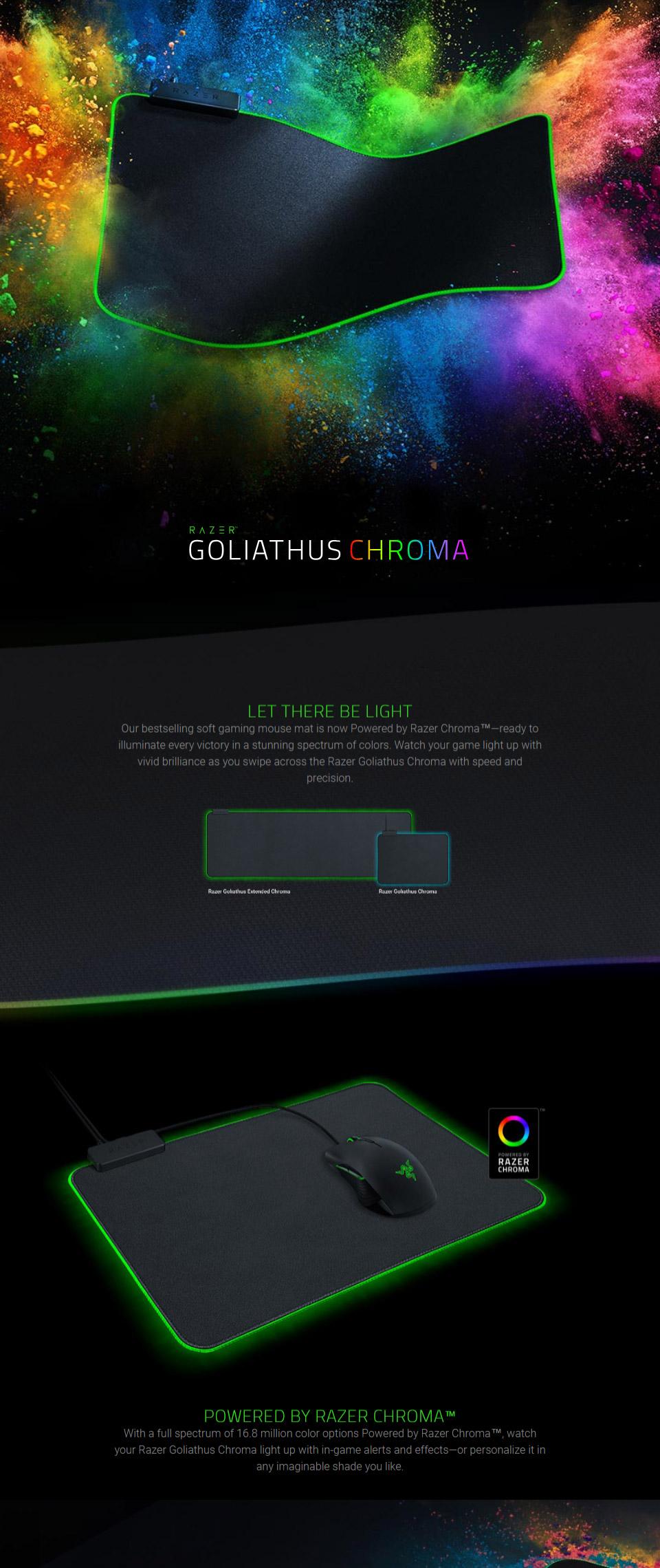 Razer Goliathus Extended Chroma Soft Gaming Mouse Mat