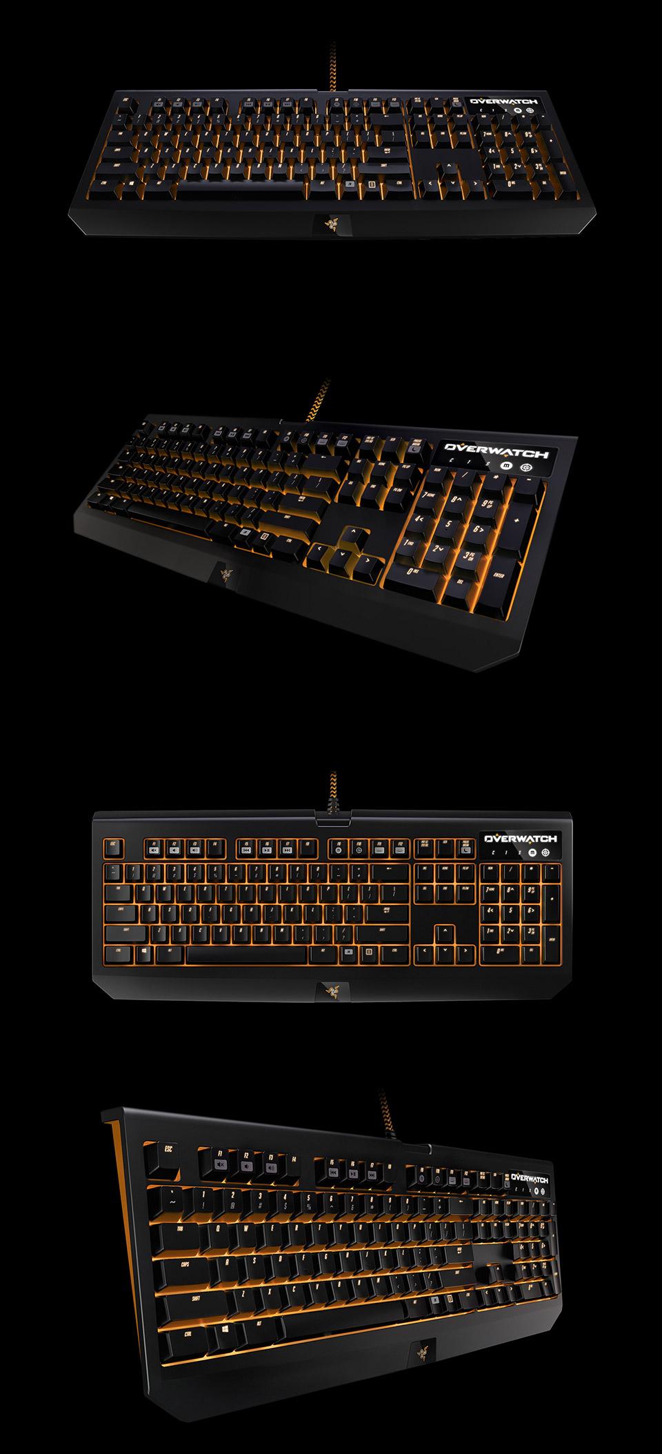 Razer BlackWidow Chroma RGB Gaming Keyboard Overwatch Edition [RZ03