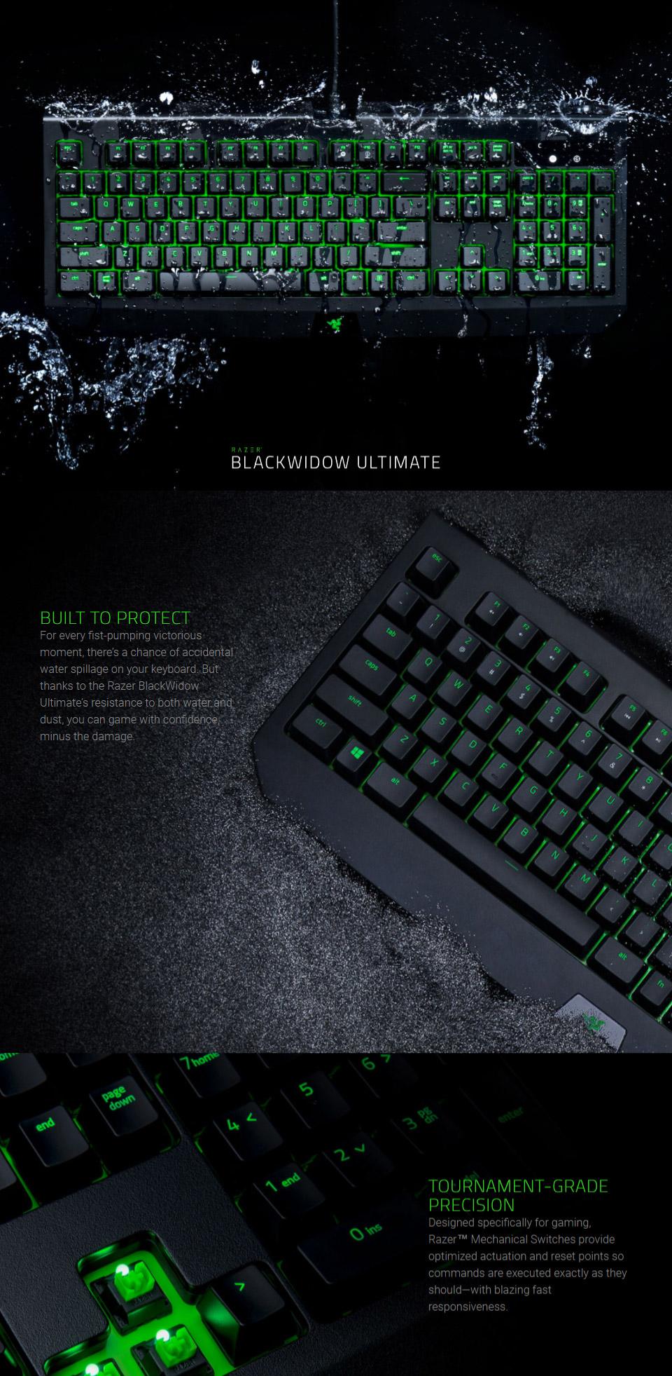Razer BlackWidow Ultimate IP54 Mechanical Gaming Keyboard