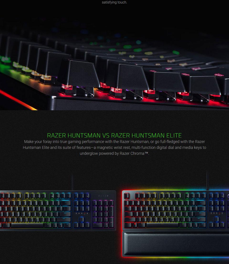 Razer Huntsman Elite RGB Opto-Mechanical Keyboard
