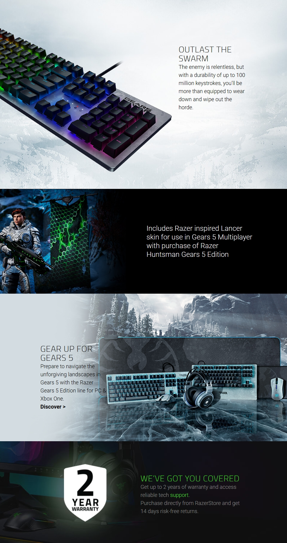 Razer Huntsman Gears 5 Edition Opto-Mechanical Gaming Keyboard features 2