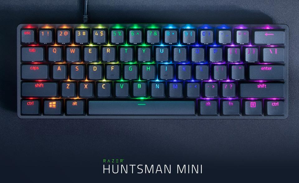 מקלדת גיימינג מכנית אופטית Razer Huntsman mini RGB Opto-Mech Keyboard Clicky Switch