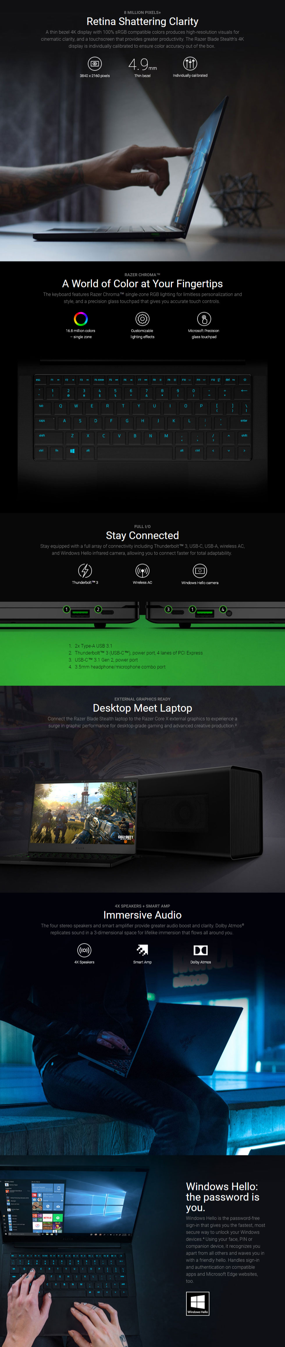 Razer Blade Stealth Core i7 13 3in Ultrabook [02810E71]