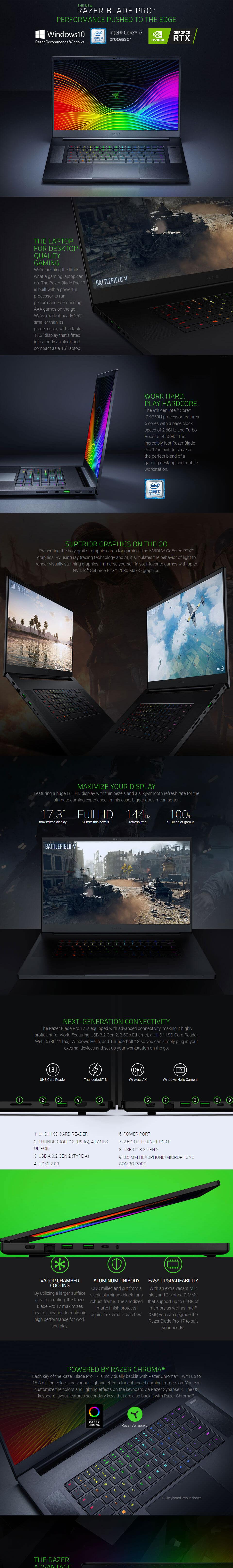 Razer Blade Core i7 RTX 2060 17 3in 144hz Notebook [02876E92]