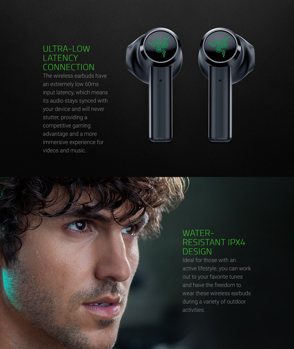 Razer Hammerhead Wireless In-Ear Headphones features