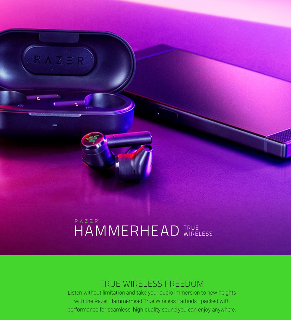Razer Hammerhead Wireless In-Ear Headphones features 3