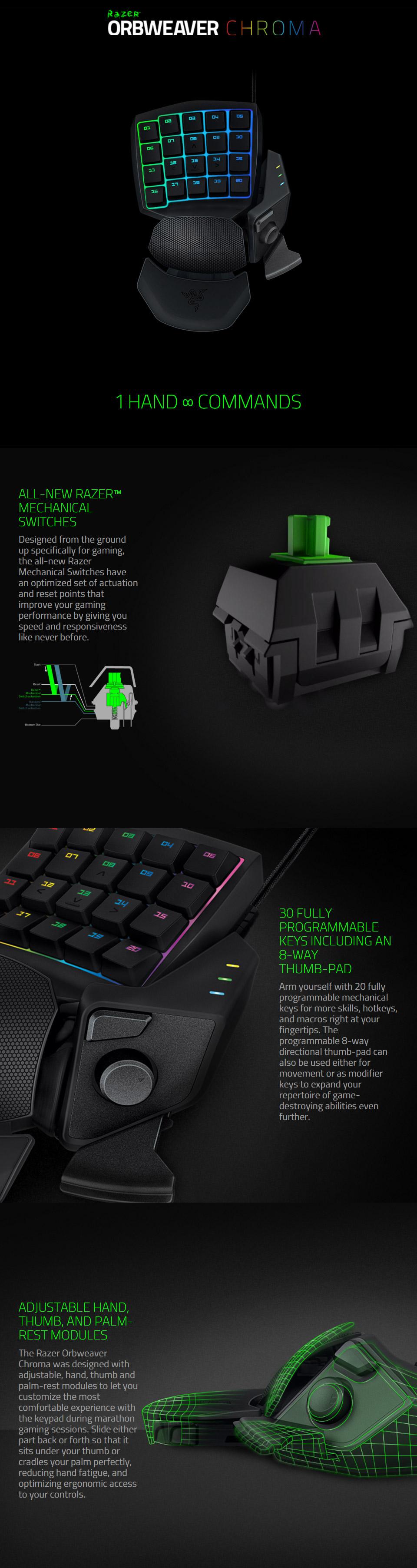 Razer Orbweaver Chroma Mechanical Gaming Keypad