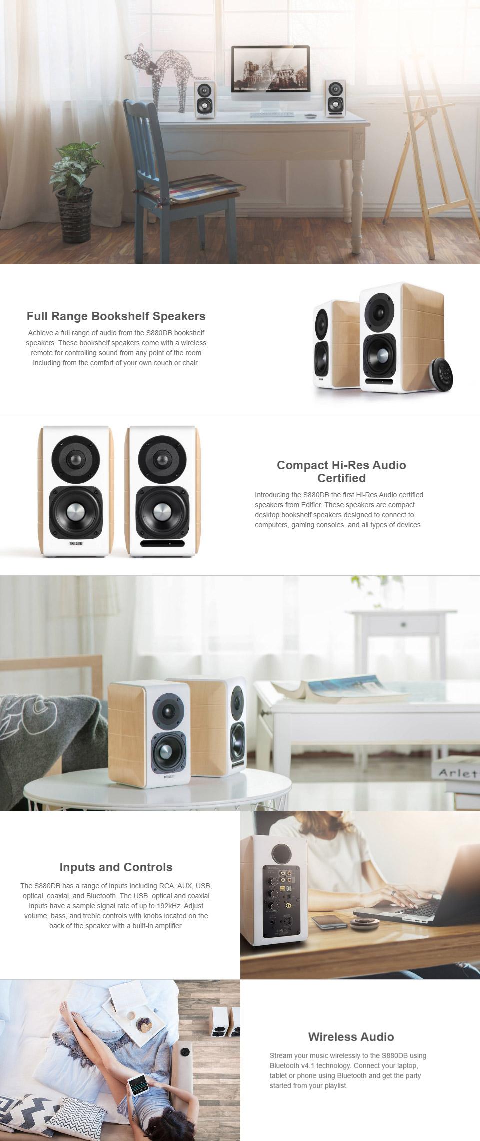 Edifier S880DB 2 0 Hi-Res Certified Powered Speakers [S880DB] : PC