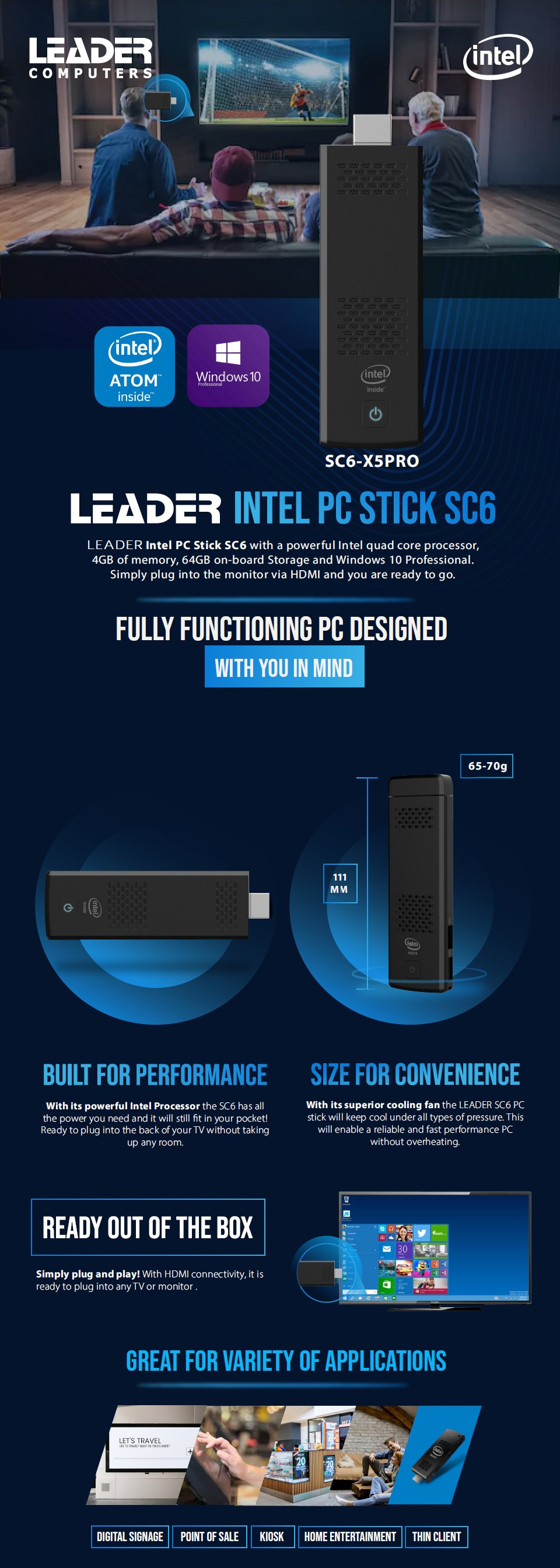 PC On A Stick ProStick SC6 Intel Inside features