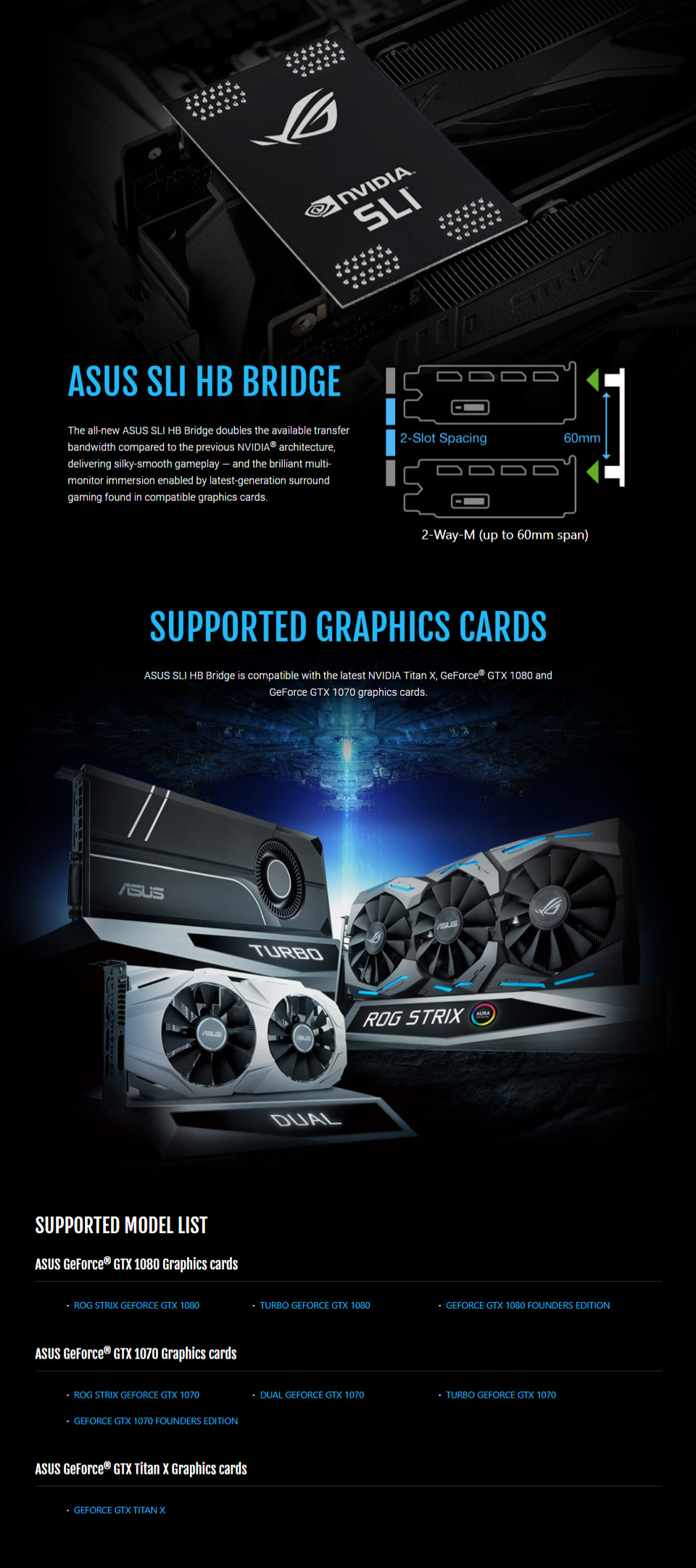 Multi Monitor Immersion Enabled By Latest Generation Surround Gaming Found In Compatible Graphics Cards 2 Way M Slot Spacing Up To 60mm Span