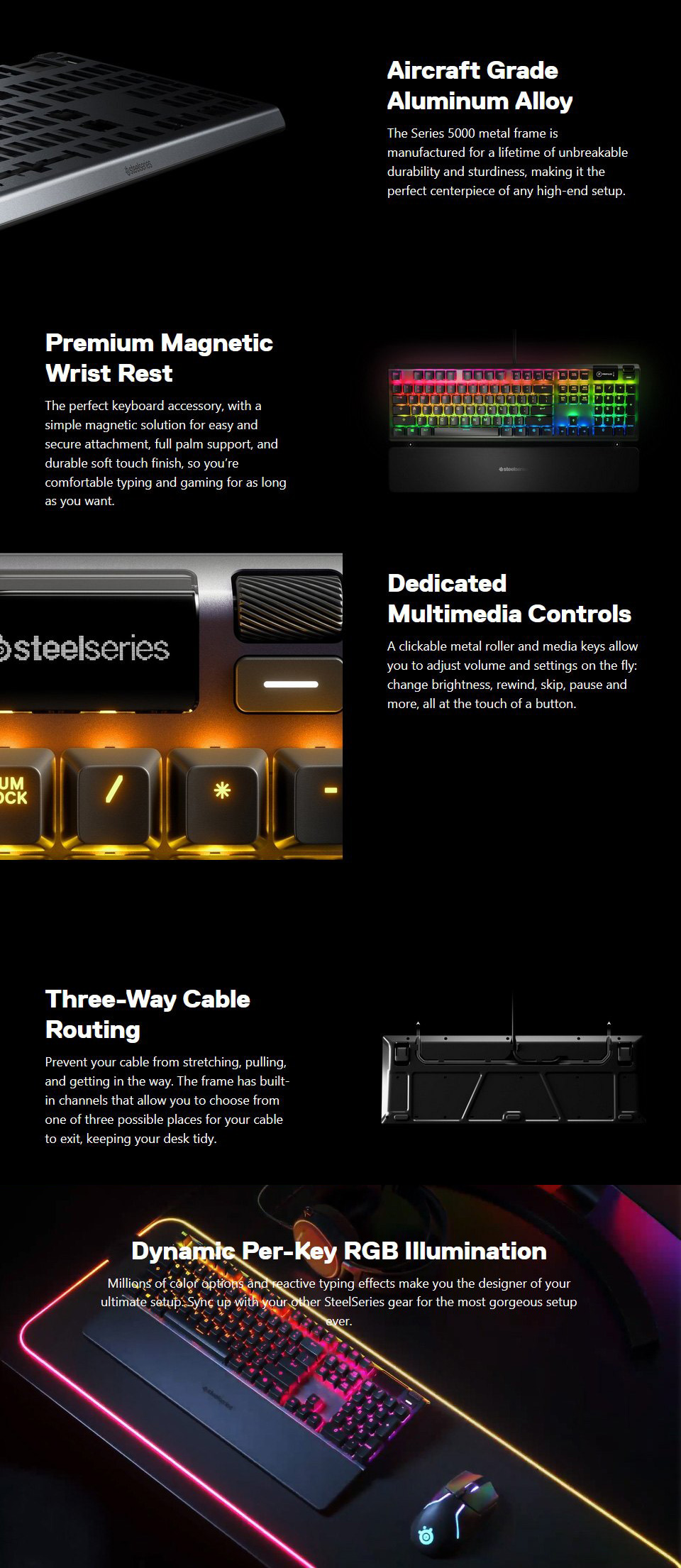 SteelSeries Apex 5 Hybrid RGB Gaming Keyboard features 2