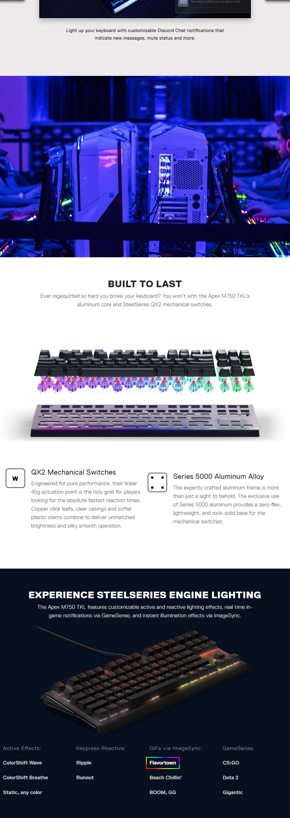 SteelSeries Apex M750 TKL RGB Mechanical Gaming Keyboard