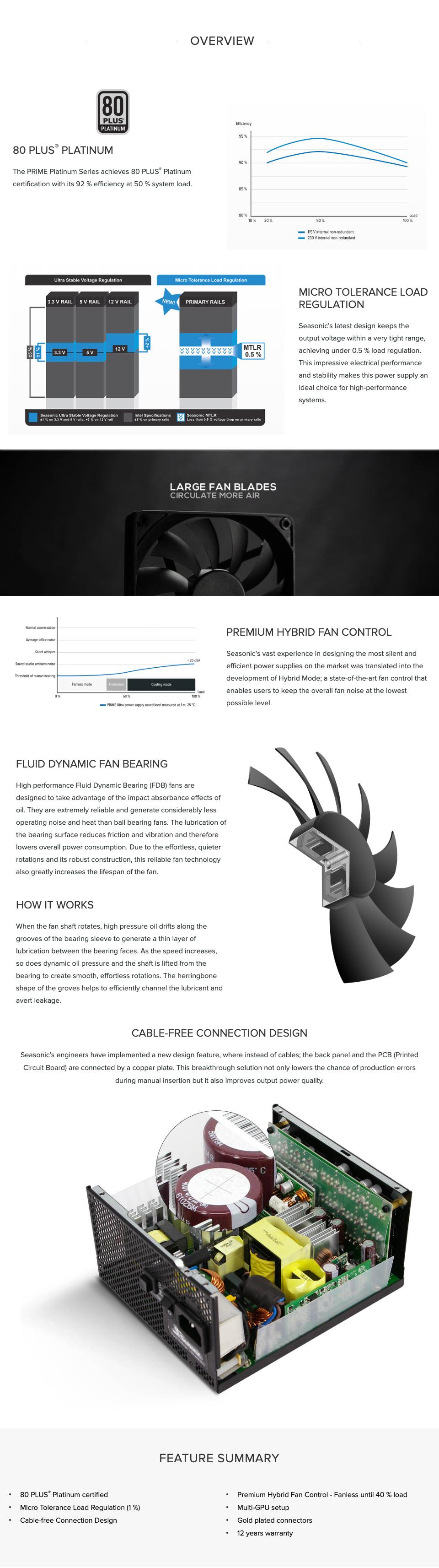 Seasonic Prime Platinum 1300W Power Supply features