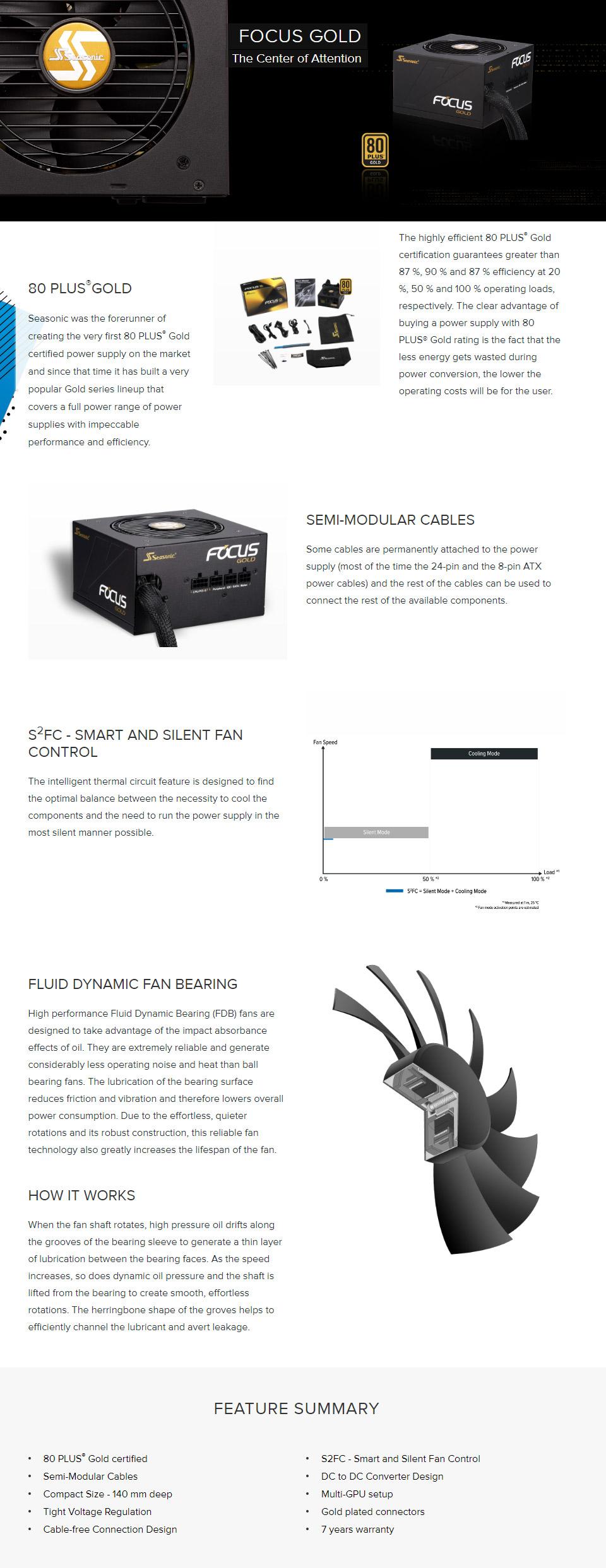 seasonic focus gold 650w power supply  ssr