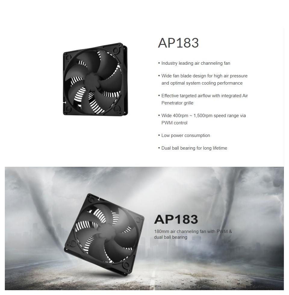 Silverstone AP183 180mm Case Fan Black features