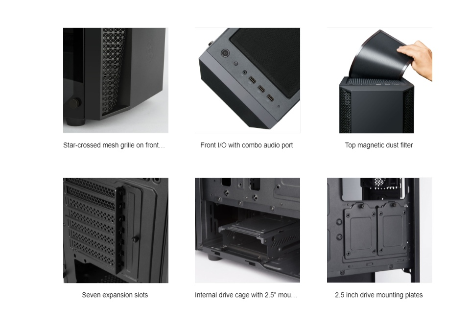 SilverStone Fara FAB1 TG mATX Case Black features 3