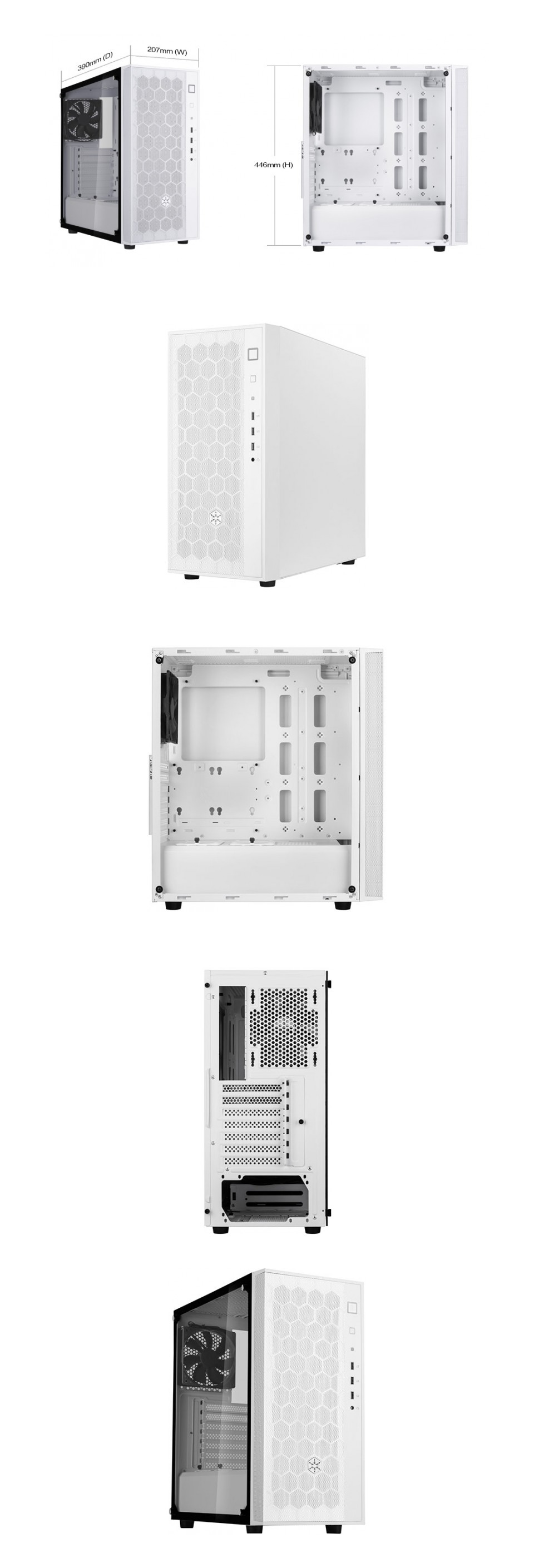 SilverStone Fara FAR1 Case White product