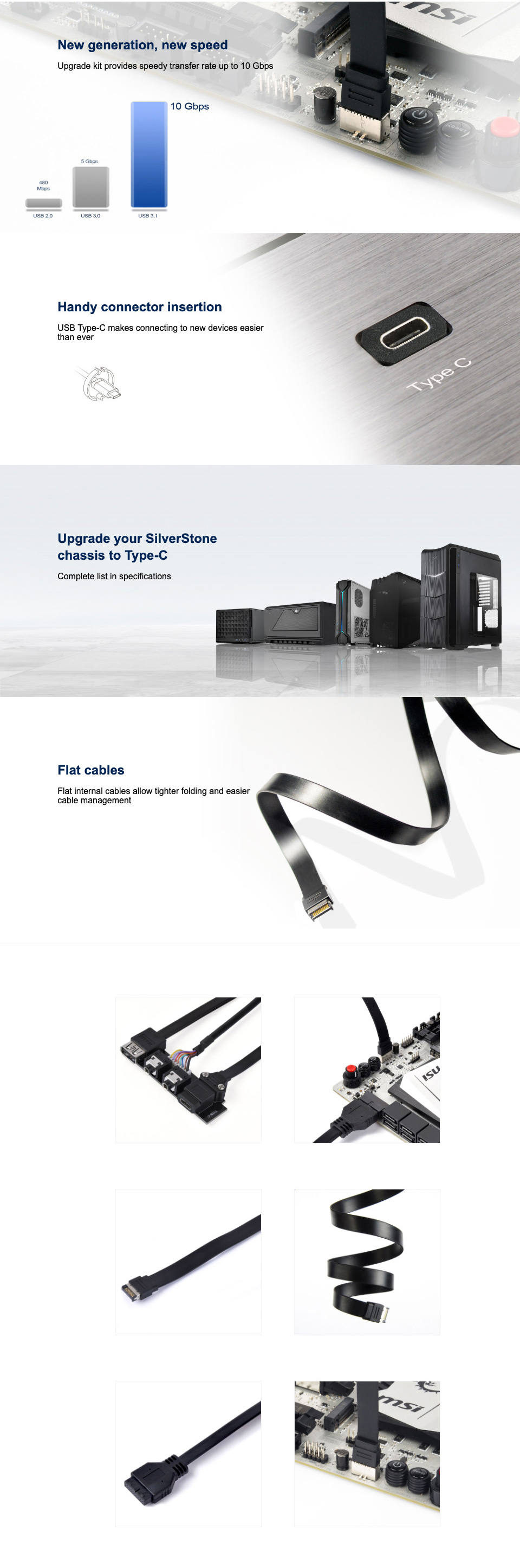 Silverstone USB3.1 Upgrade Kit features