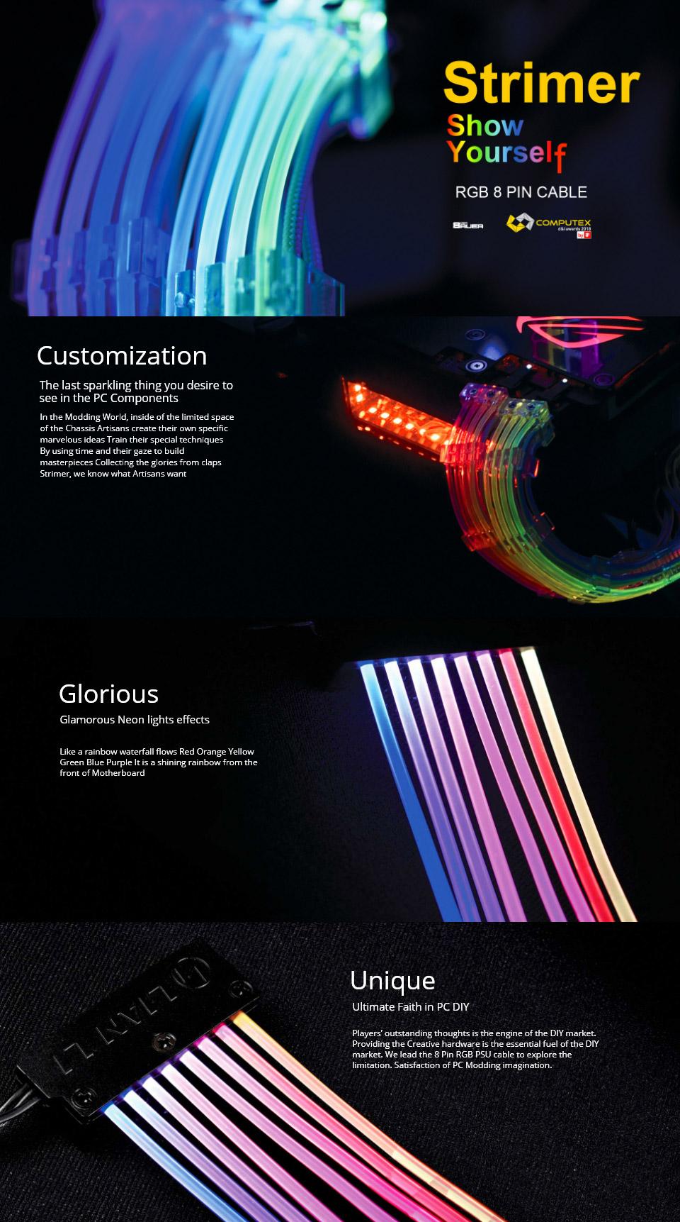 Lian Li Strimer 8 Pin RGB Cable