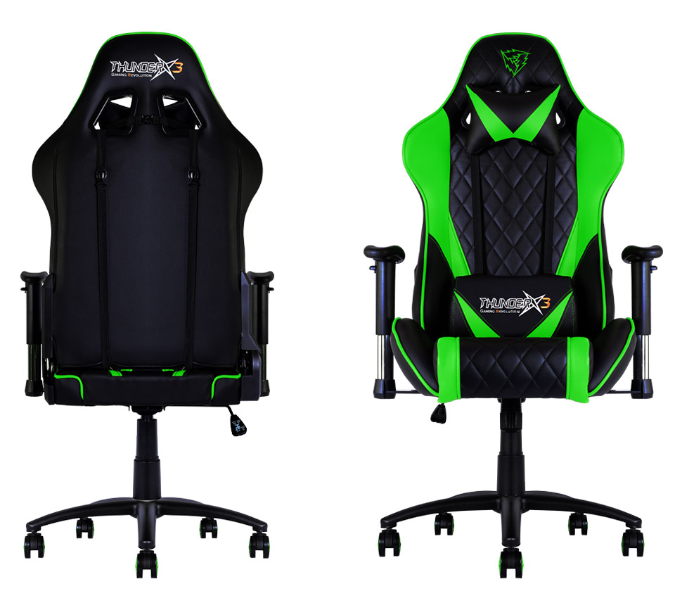 Aerocool Thunder X3 TGC15 Gaming Chair Black Green TX3 TGC15 BG