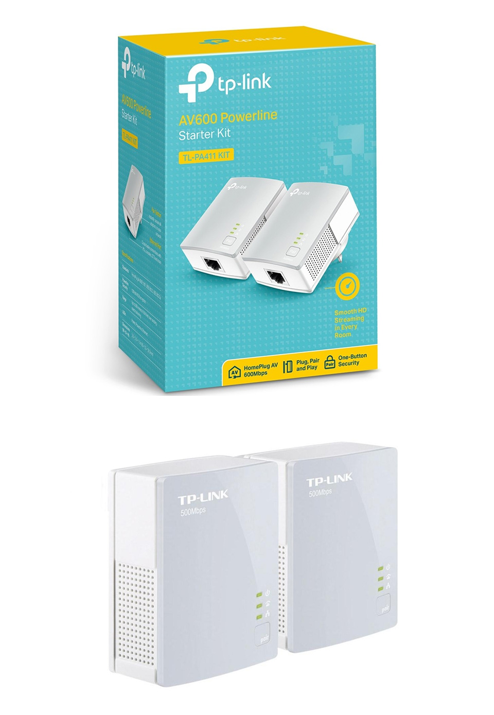 tp link tl pa411 kit av600 mini powerline adapter starter. Black Bedroom Furniture Sets. Home Design Ideas