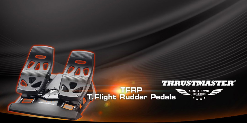 Thrustmaster TFRP Flight Rudder Pedals For PC & PS4