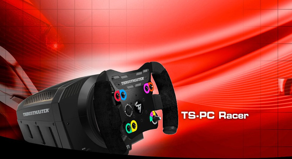 thrustmaster ts pc racer force feedback racing wheel for pc tm 2960786 pc case gear. Black Bedroom Furniture Sets. Home Design Ideas