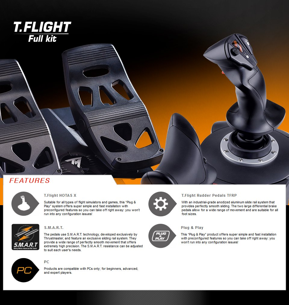 Thrustmaster T.Flight Full Kit features