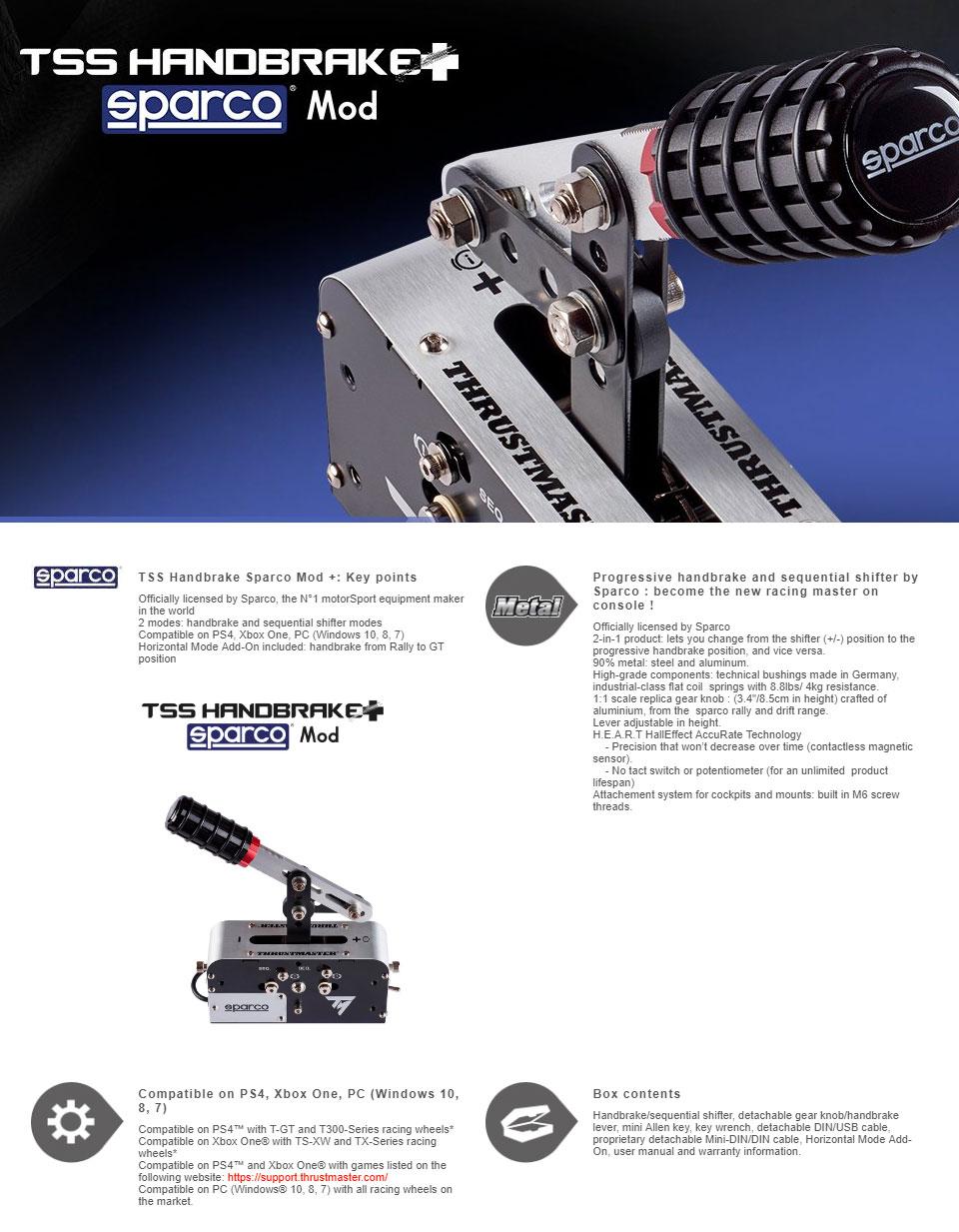 Thrustmaster TSS Handbrake Sparco Mod+