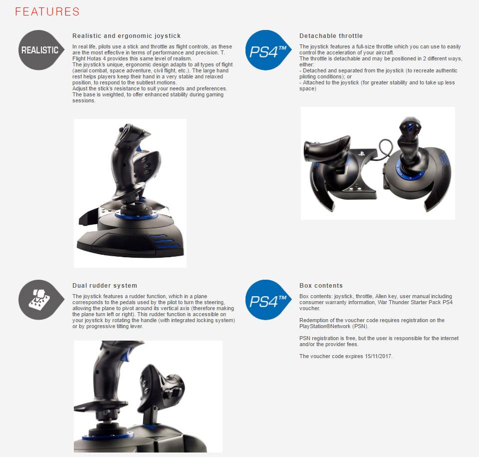 Thrustmaster T Flight HOTAS 4 Joystick For PC & PS4