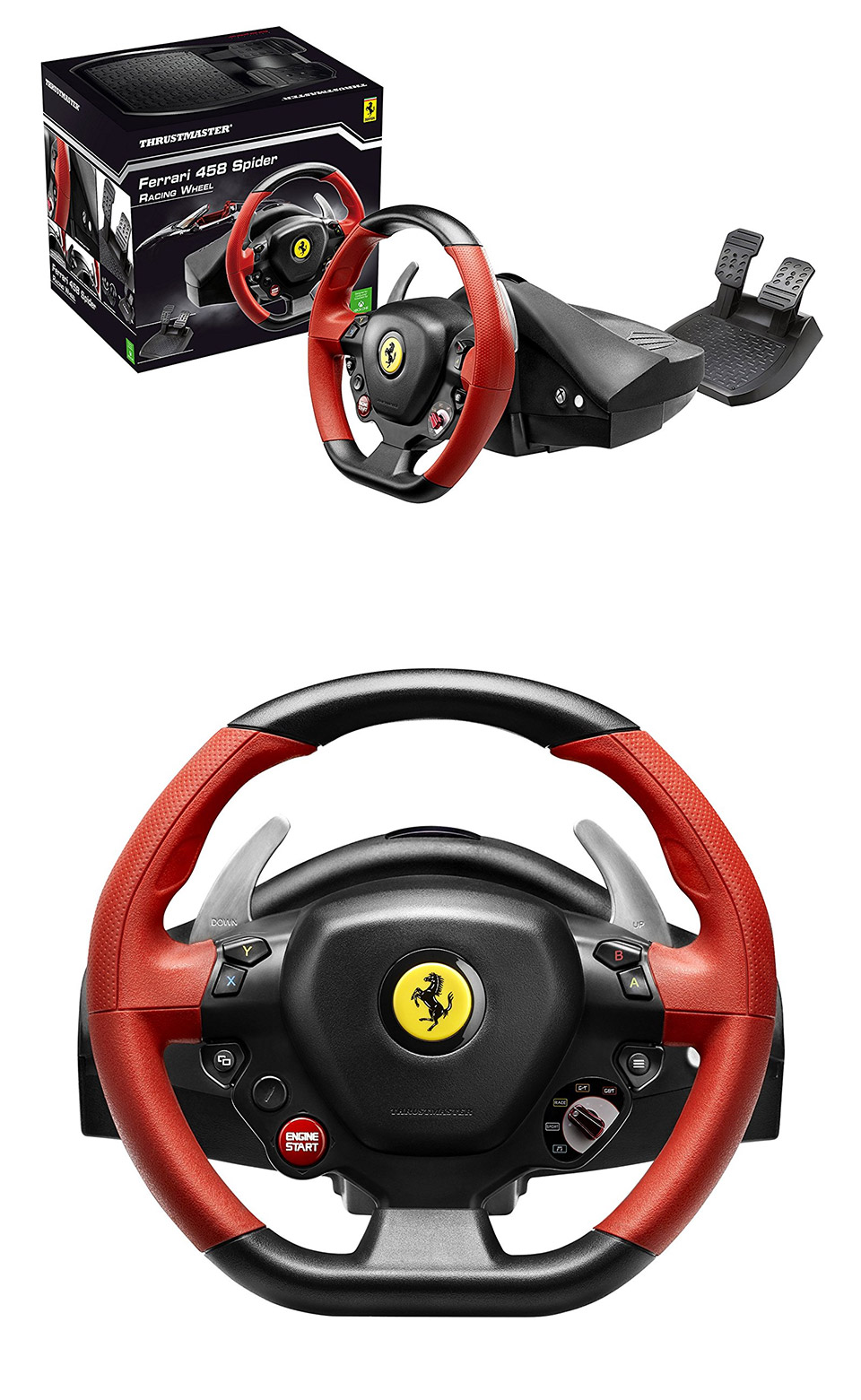 new thrustmaster ferrari 458 spider racing wheel for xbox. Black Bedroom Furniture Sets. Home Design Ideas