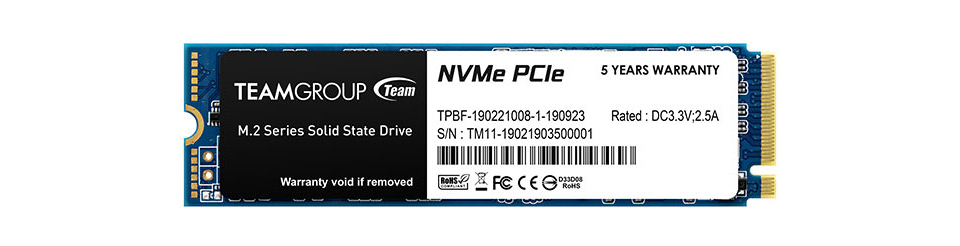 Team MP34 M.2 NVMe SSD product