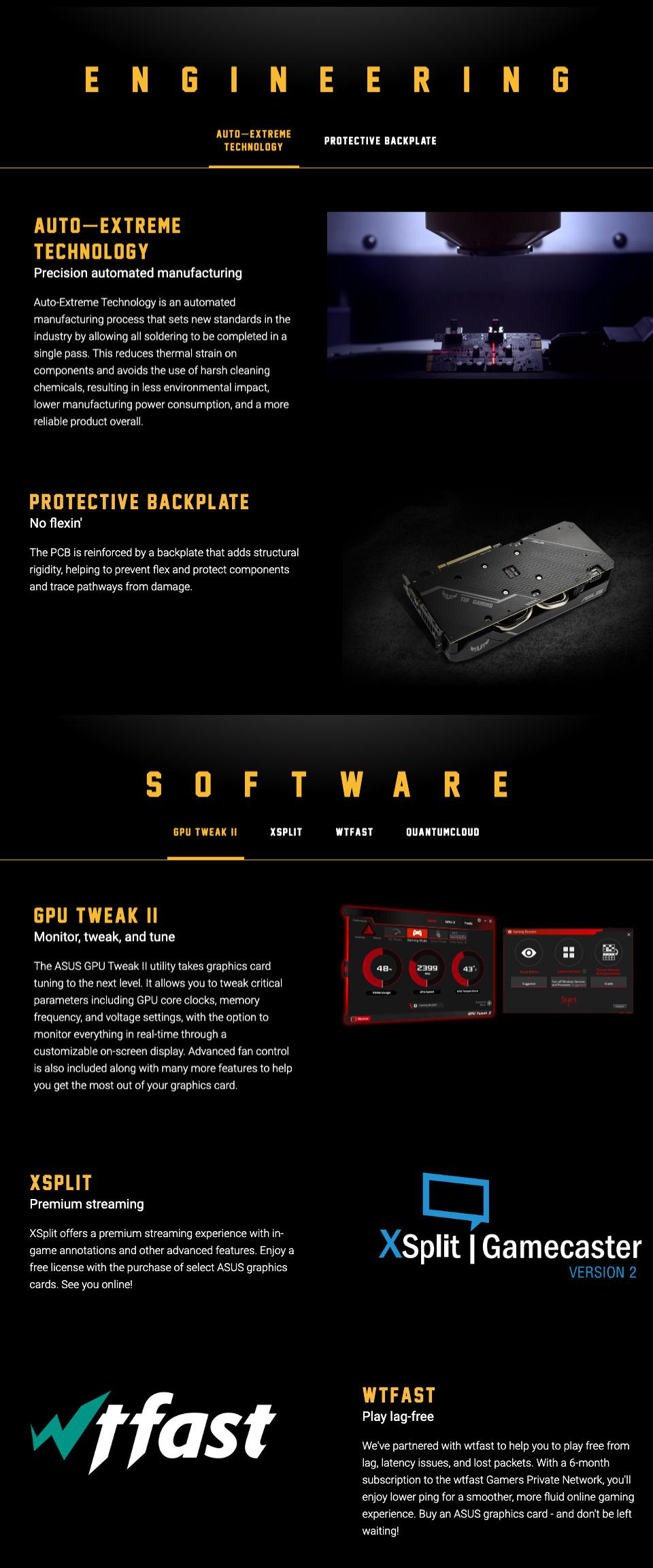 ASUS GeForce GTX 1660 Super TUF Gaming X3 OC 6GB features 2